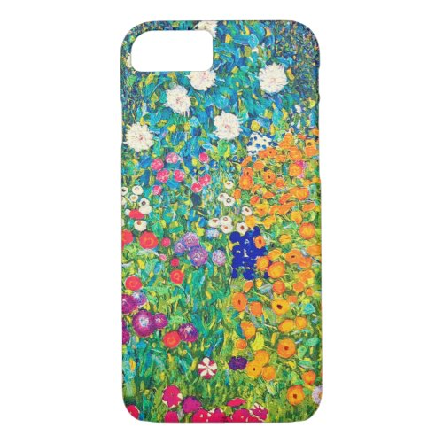 Flower Garden, Gustav Klimt iPhone 8/7 Case