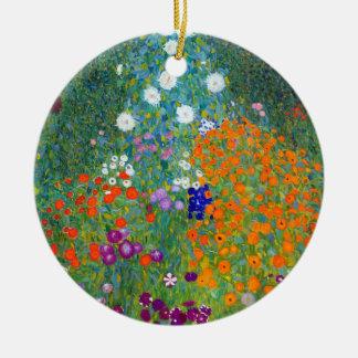 Flower Garden, Gustav Klimt Ceramic Ornament
