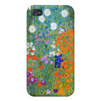 Flower Garden, Gustav Klimt iPhone 4 Case