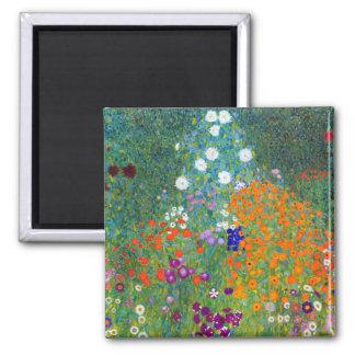 Flower Garden, Gustav Klimt Fridge Magnet