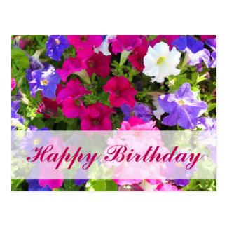 flower garden Happy Birthday Postcard