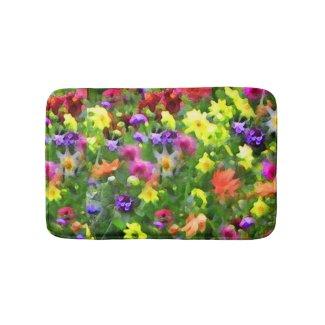 Flower Garden Impressions Bath Mats