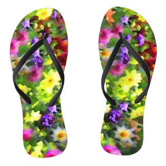 Flower Garden Impressions Flip Flops