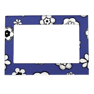 Flower Garden in Blue Bayou Magnetic Photo Frame