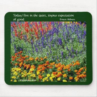 Flower Garden Inspirational Quote Mousepad