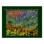 Flower Garden Inspirational Quote Poster