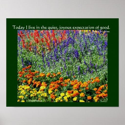 Flower Garden Inspirational Quote Poster