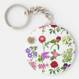 Flower Garden Keychain