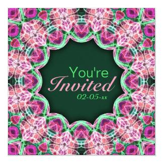 Flower Garden Mandala 5.25x5.25 Square Paper Invitation Card