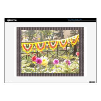 Flower Garden n garland decorations at SurajKund Laptop Decals