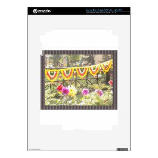 Flower Garden n garland decorations at SurajKund Skins For iPad 3