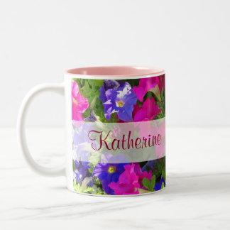 flower garden name mugs