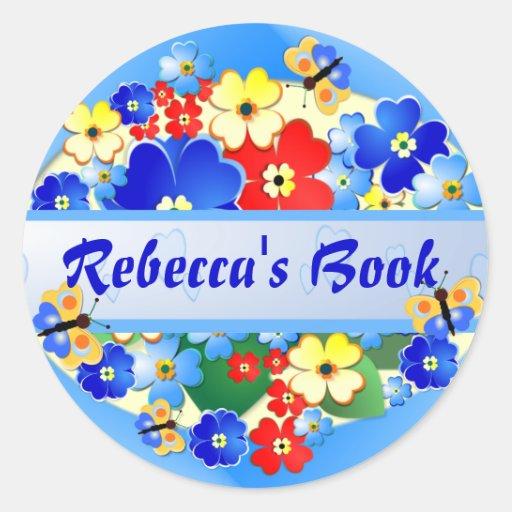 Flower Garden ~ Name Sticker