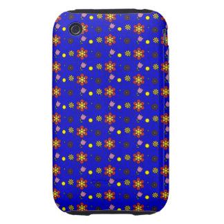 Flower Garden - On Blue iPhone 3 Tough Case
