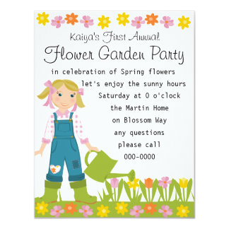 Flower Garden Party Card