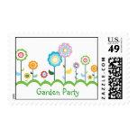 Flower Garden Party Postage Stamp