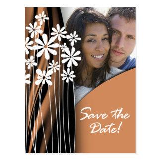 Flower Garden Save the Date Postcard (copper)