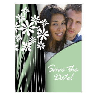 Flower Garden Save the Date Postcard (willow)