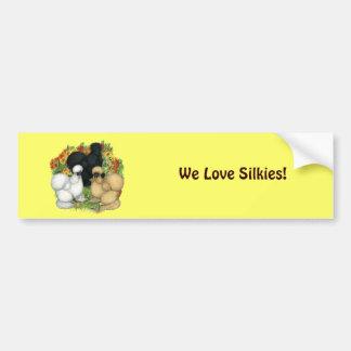 Flower Garden Silkies Car Bumper Sticker