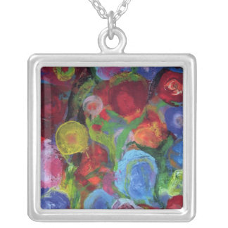 Flower Garden Silver Plated Necklace