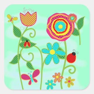 Flower Garden Square Sticker