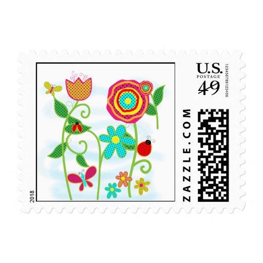 Flower Garden Stamp