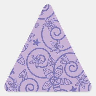 Flower Garden Triangle Stickers