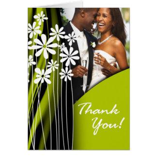 Flower Garden Thank You (celery) Card