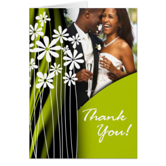 Flower Garden Thank You (celery) Greeting Card