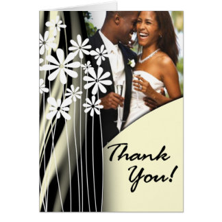 Flower Garden Thank You (champagne) Card