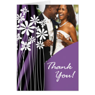 Flower Garden Thank You (lavender) Greeting Card