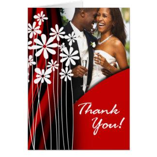 Flower Garden Thank You (red) Card