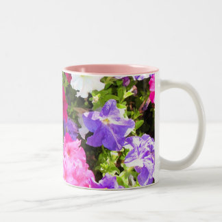 flower garden Two-Tone coffee mug