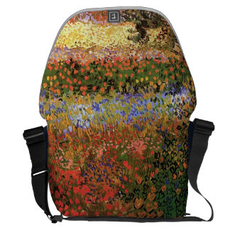 Flower Garden,Vincent van Gogh. Courier Bag