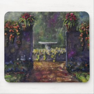 Flower garden wall mouse pad