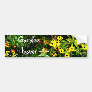 Flower Garden Watercolor Bumper Sticker