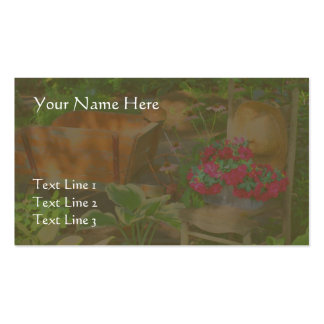 Flower Garden Wheelbarrow And Chair Double-Sided Standard Business Cards (Pack Of 100)