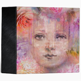 Flower Garden Woman Paint Dripping Binder