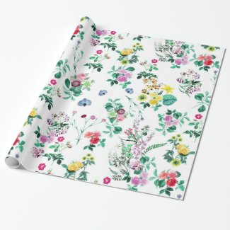 Flower Garden Wrapping Paper