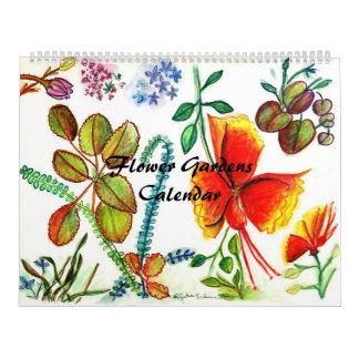 Flower Gardens Calendar