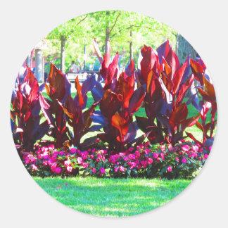 Flower Gardens of Boston City America USA fun Classic Round Sticker