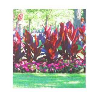 Flower Gardens of Boston City America USA fun Notepad