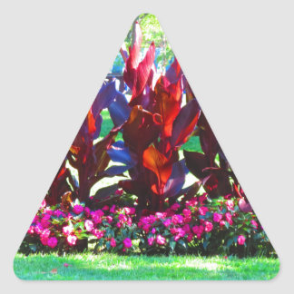 Flower Gardens of Boston City America USA fun Triangle Sticker