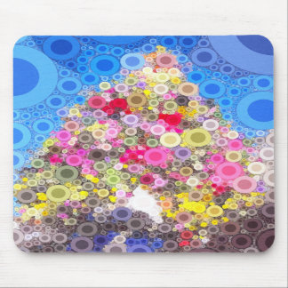 Flower garland 1960s-style mousemat