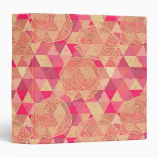 Flower geometrical pattern 3 ring binders