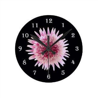 Flower Gerber Daisy Wall Clock - Pink Flower