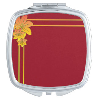 Flower Gift Compact Mirror