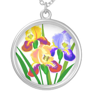 Flower Gifts Round Pendant Necklace