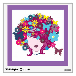 "Flower Girl 12""x12"" Wall Decal"