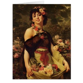 Flower Girl 1888 Card